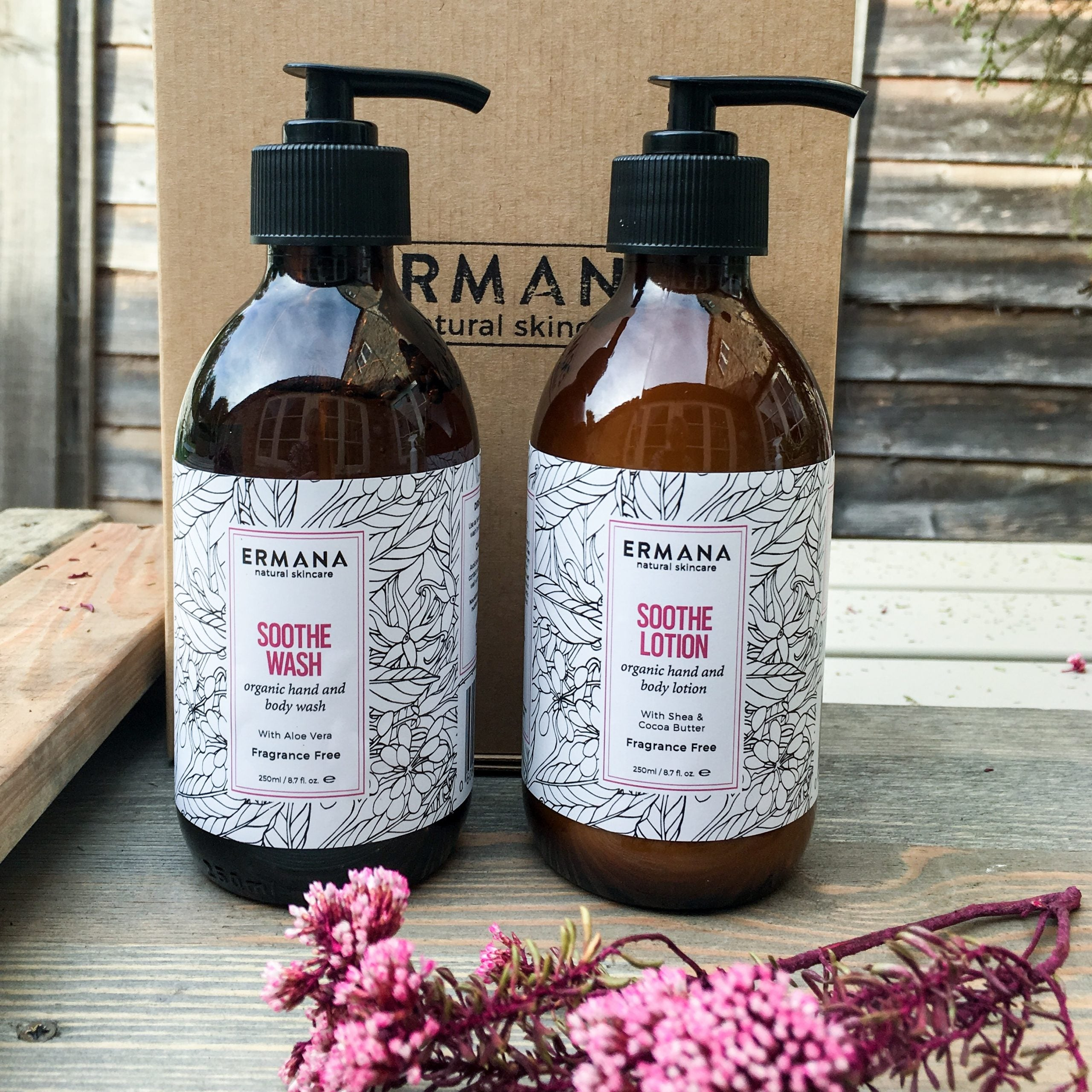 Soothe Organic Hand Body Gift Set Hand Blended Natural Skincare Made In Uk