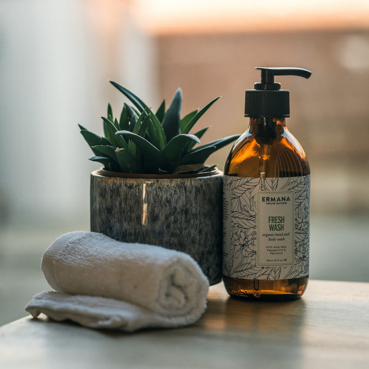 Fresh Organic Hand & Body Wash 250ml - Ermana Natural Skincare