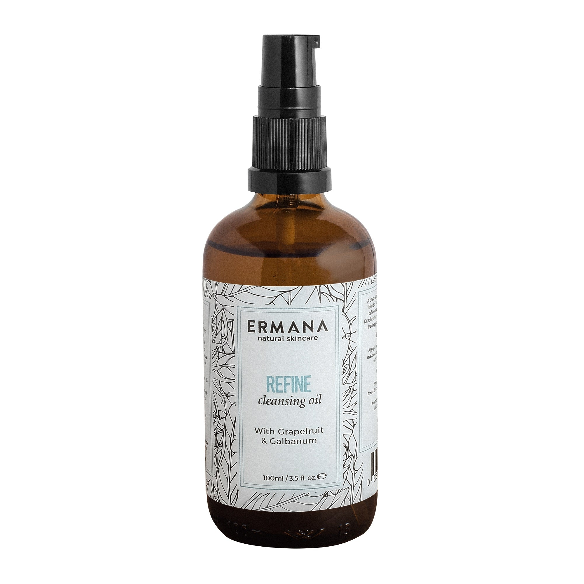 Refine Cleansing Oil 100ml - Ermana Natural Skincare