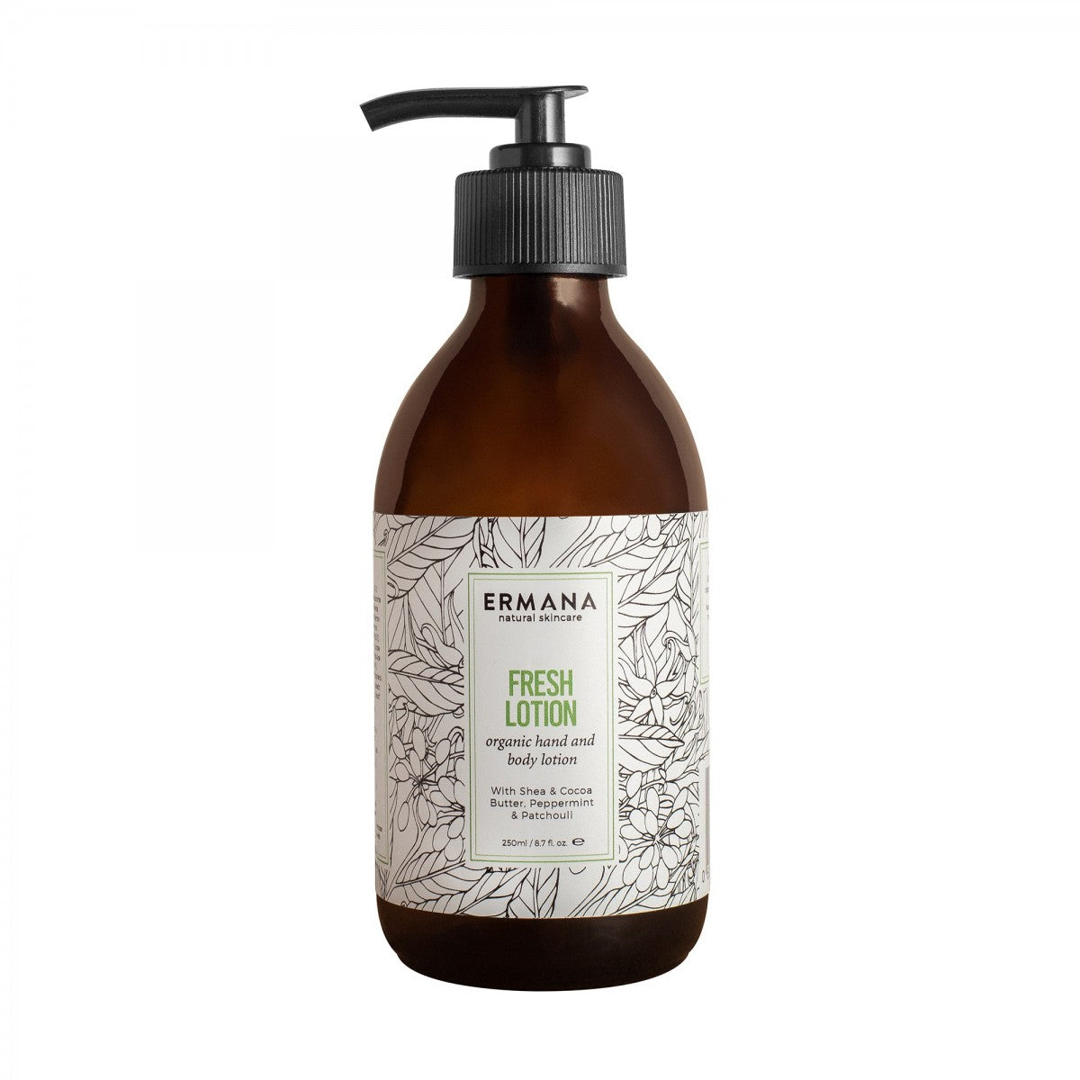 Fresh Organic Hand & Body Lotion 250ml - Ermana Natural Skincare