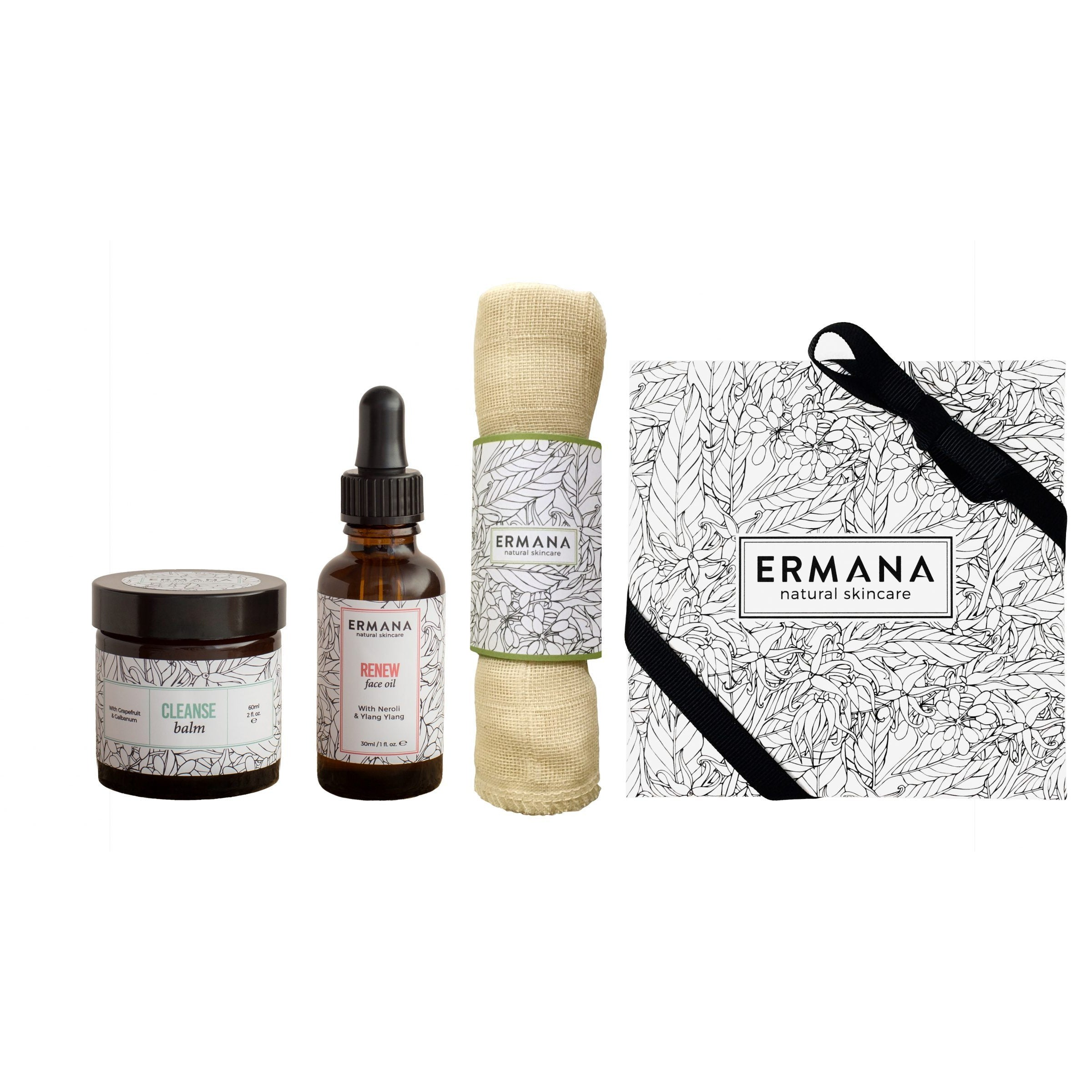 Renew Gift Set with renew face oil and cleanse balm - Ermana Natural Skincare