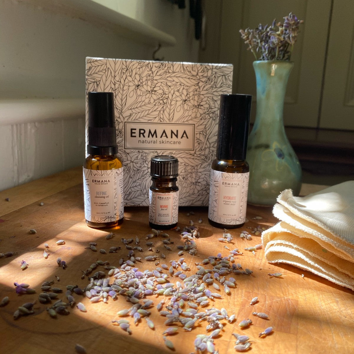 Skincare Minis Gift Set with refine, hydrate and revive - Ermana Natural Skincare