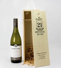 Carica l'immagine nel visualizzatore di Gallery, 1 Bottle Personalised Wine Box - Any Occasion & Year