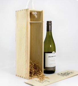 1 Bottle Personalised Wine Box - Any Occasion & Year