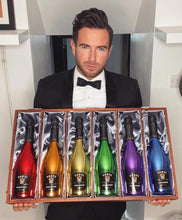 Carica l'immagine nel visualizzatore di Gallery, Luxury Silk Lined Wooden Gift Box & Rainbow Collection Full set 6 Bottles