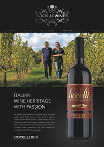 Andrea Bocelli family wine gifts delivered uk