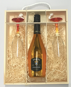 Rainbow Personalised Wine Box / 1 Bottle & 2 Glasses