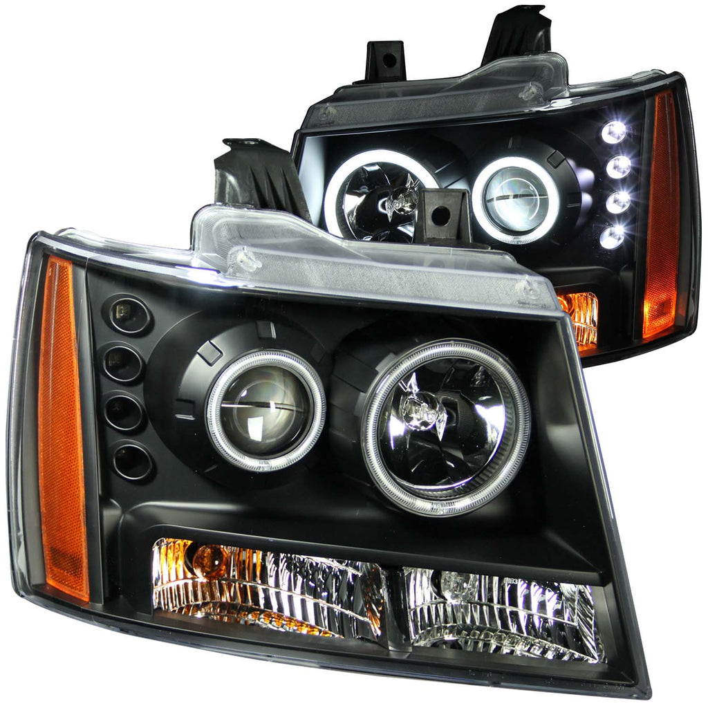 ANZO USA Projector Headlight Set w/Halo
