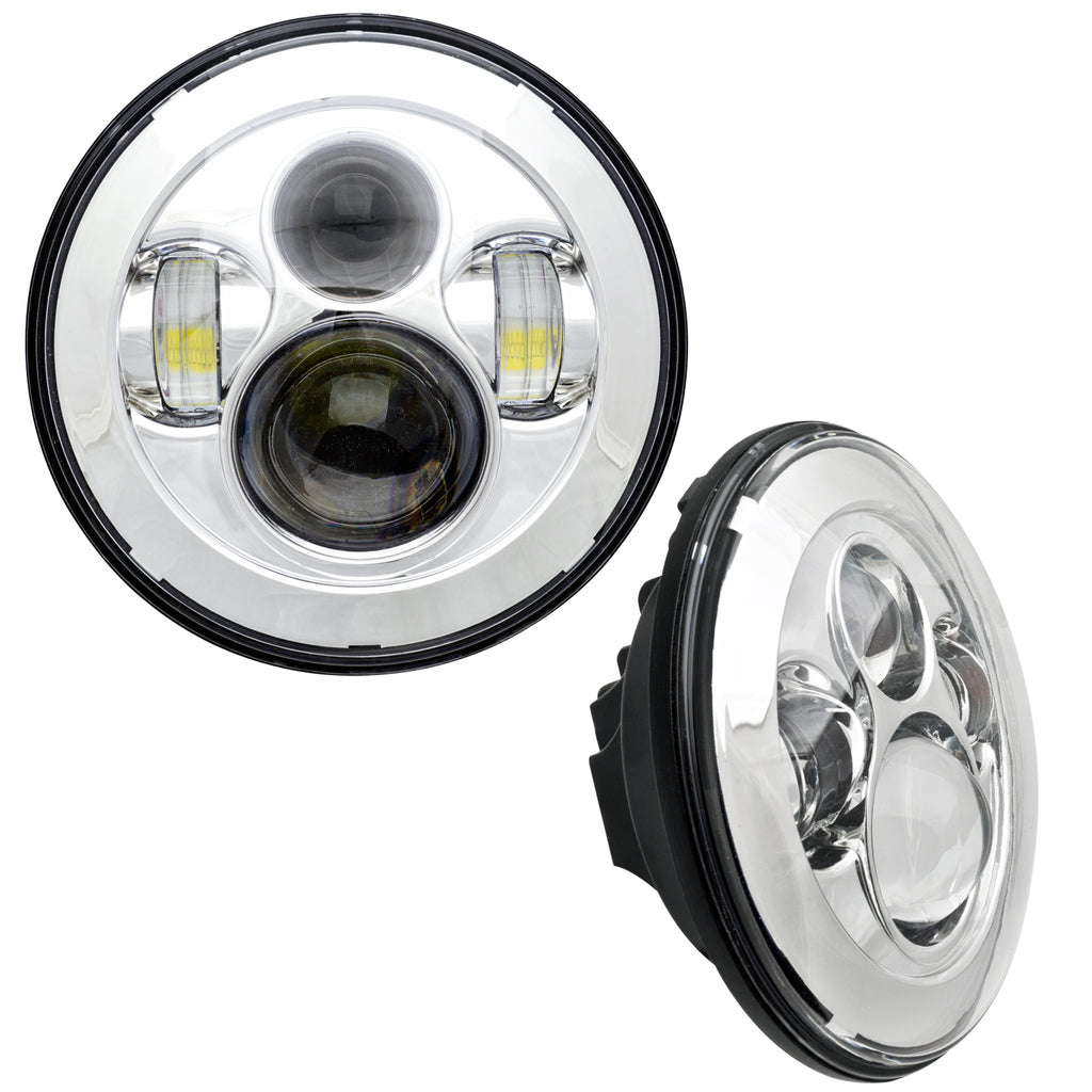 5770-003 - ORACLE 7in. High Powered LED Headlights - Chrome Bezel