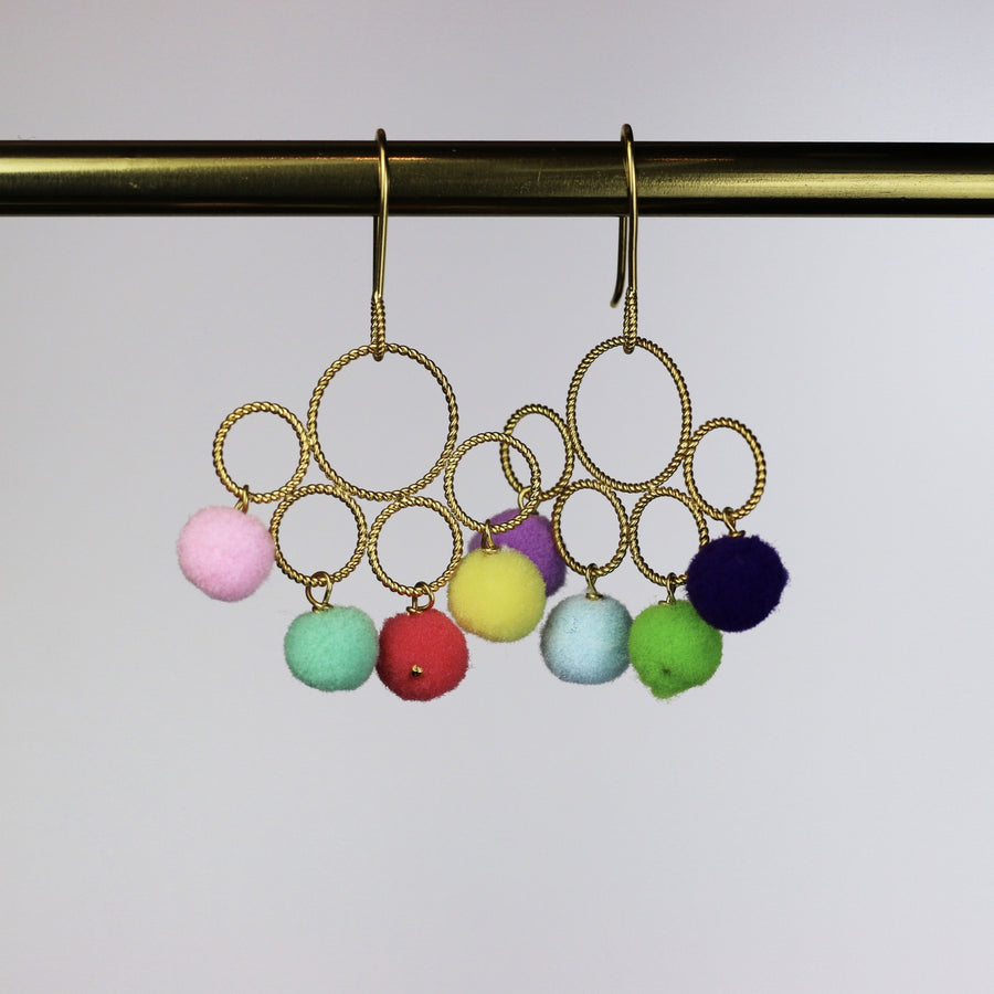 Pompom Chiquita Earrings