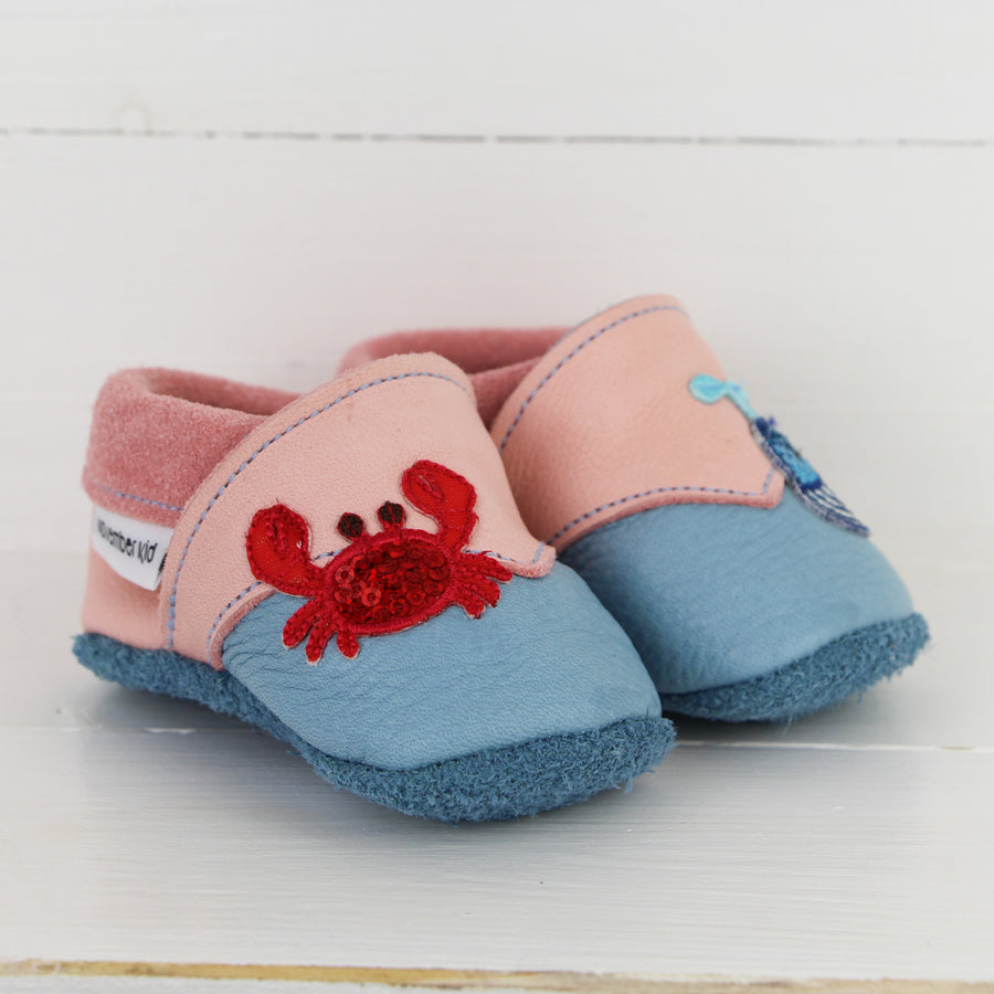 November Kid - Baby Shoes SEALIFE