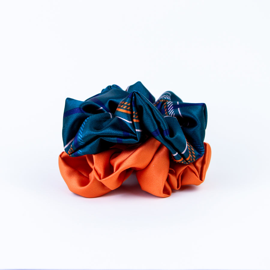 Color Blocking Scrunchie Set
