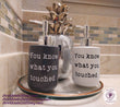 You know what you touched. Ceramic Soap Dispenser