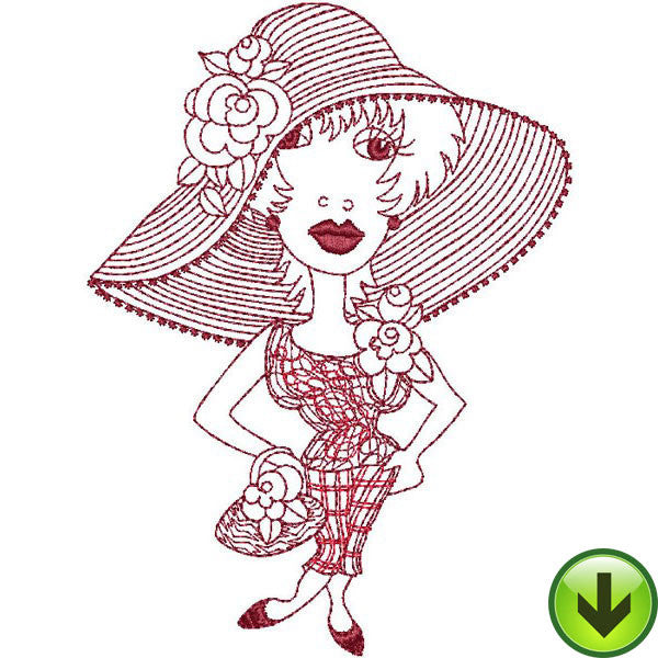 Hattie Embroidery Design | DOWNLOAD