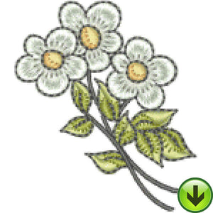 Petal Power Flowers Embroidery Design | DOWNLOAD