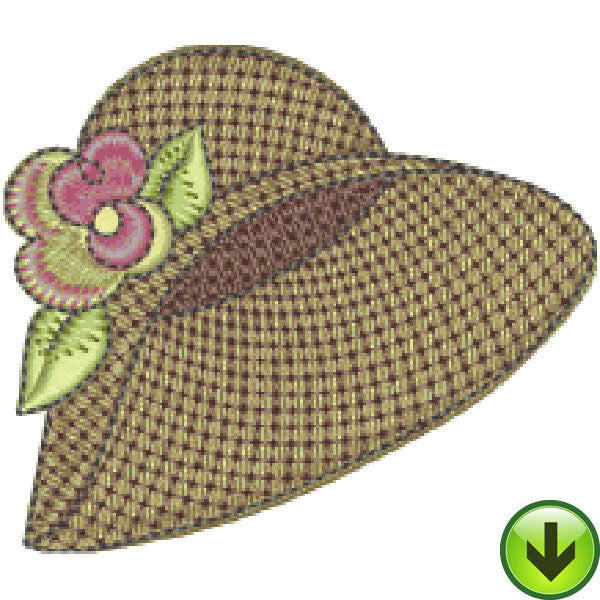 Petal Power Hat Embroidery Design | DOWNLOAD
