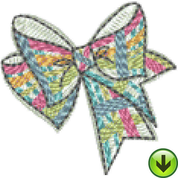 Petal Power Plaid Bow Embroidery Design | DOWNLOAD