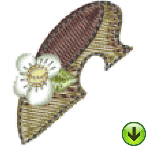 Petal Power Shoe Embroidery Design | DOWNLOAD