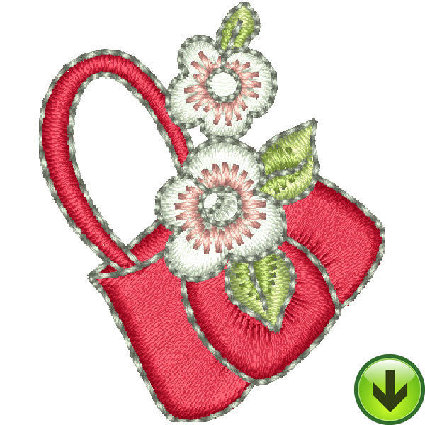 Pincushion Lady Hand Bag Embroidery Design | DOWNLOAD