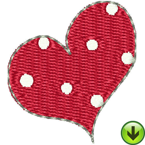 Pincushion Lady Heart Embroidery Design | DOWNLOAD