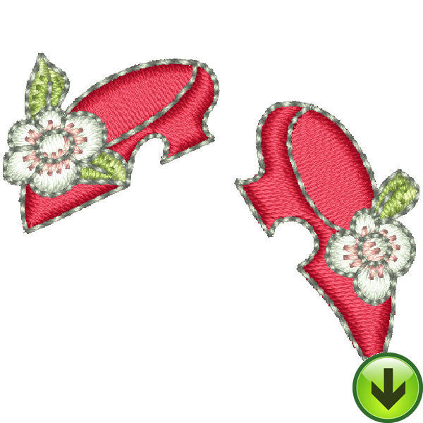 Pincushion Lady Shoes Embroidery Design | DOWNLOAD