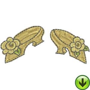 Quiltin' Lil Floral Shoes Embroidery Design | DOWNLOAD