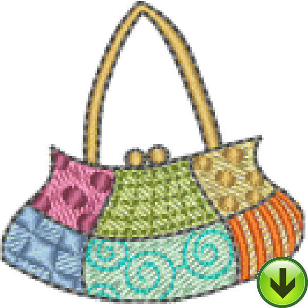 Quiltin' Lil Patchwork Hand Bag Embroidery Design | DOWNLOAD