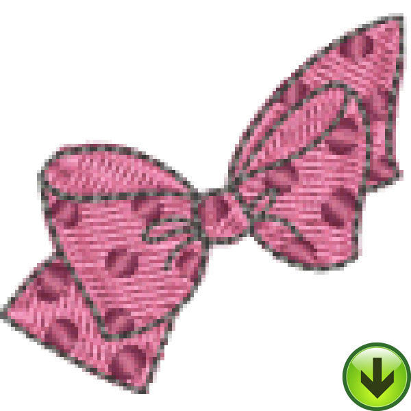 Quiltin' Lil Polka Dot Bow Embroidery Design | DOWNLOAD