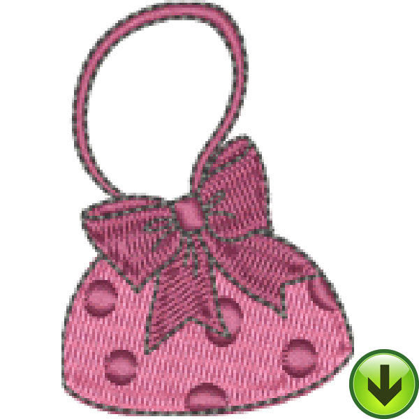 Quiltin' Lil Polka Dot Hang Bag Embroidery Design | DOWNLOAD