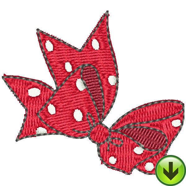 Serious Shopper Bow Embroidery Design | DOWNLOAD