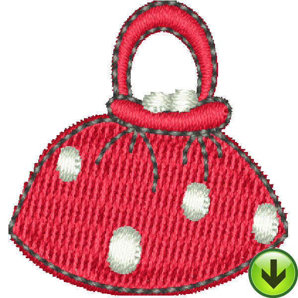 Serious Shopper Hand Bag Embroidery Design | DOWNLOAD