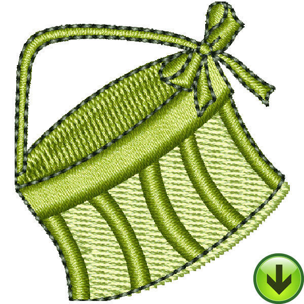 Serious Shopper Hat Box Embroidery Design | DOWNLOAD