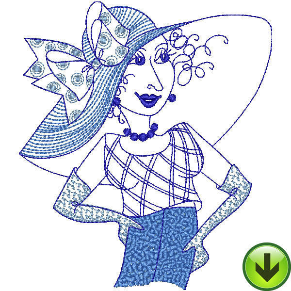 Blue Bonnets Embroidery Machine Design Collection