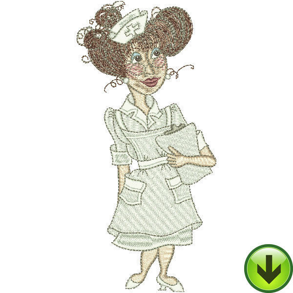 Nice Nurse Embroidery Design | DOWNLOAD
