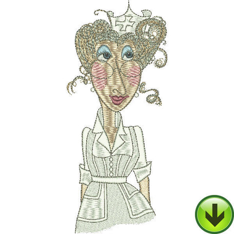 Nurse Nel Embroidery Design | DOWNLOAD