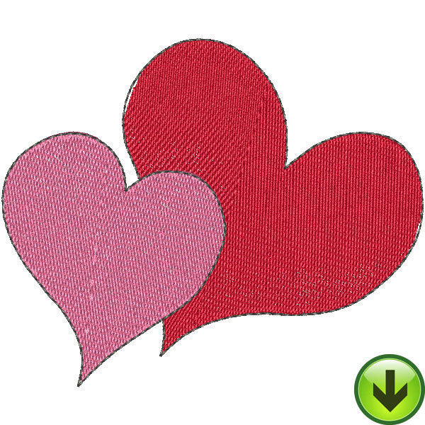 Heart Couple Embroidery Design | DOWNLOAD