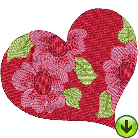 Heart Flower Pattern Embroidery Design | DOWNLOAD