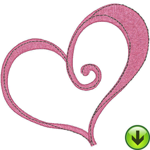 Pink Heart Embroidery Design | DOWNLOAD