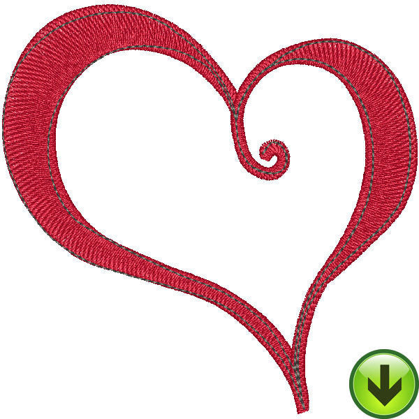 Red Heart Embroidery Design | DOWNLOAD