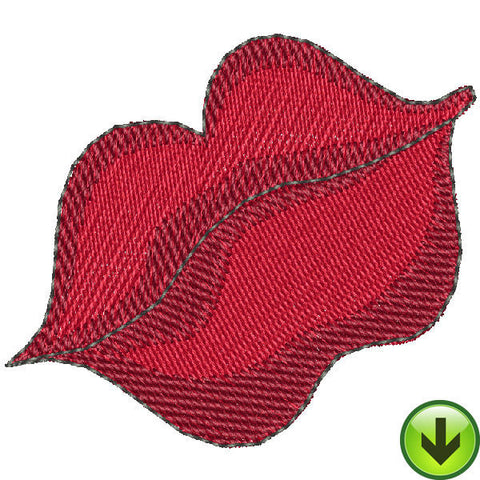Red Lips Embroidery Design | DOWNLOAD