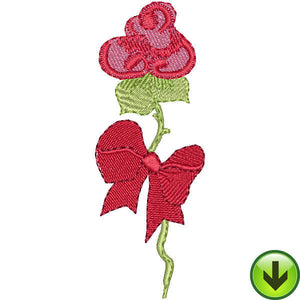 Rose Bow Embroidery Design | DOWNLOAD