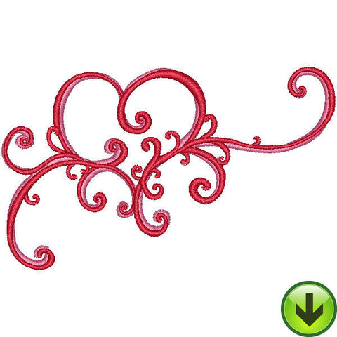 Scroll Heart Embroidery Design | DOWNLOAD