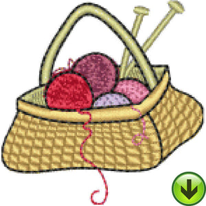 Lela Knitting Basket Embroidery Design | DOWNLOAD