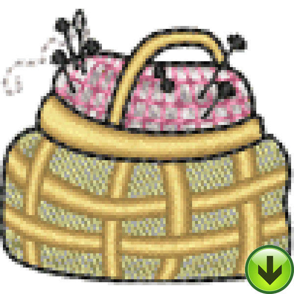 Lela Sewing Basket Embroidery Design | DOWNLOAD