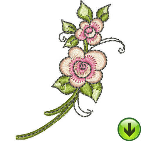 Wanda Flowers Embroidery Design | DOWNLOAD