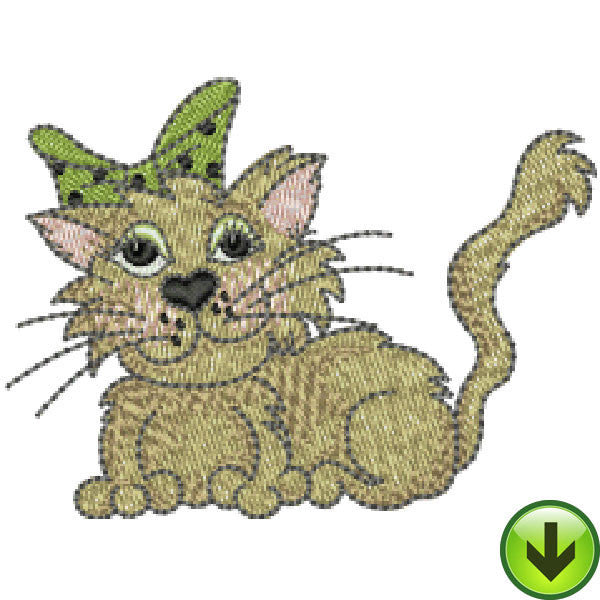 Fancy Cats Embroidery Design Collection | Download