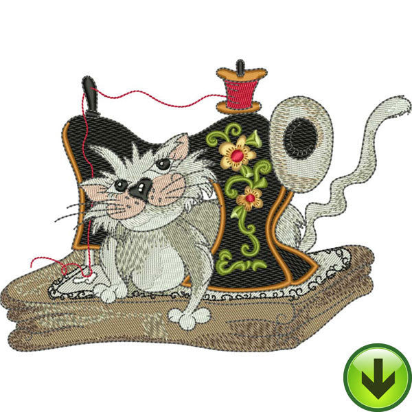 Fancy Cats Machine Embroidery Collection Download Loralie Designs