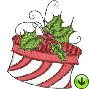 Holly Hat Box Embroidery Design | DOWNLOAD