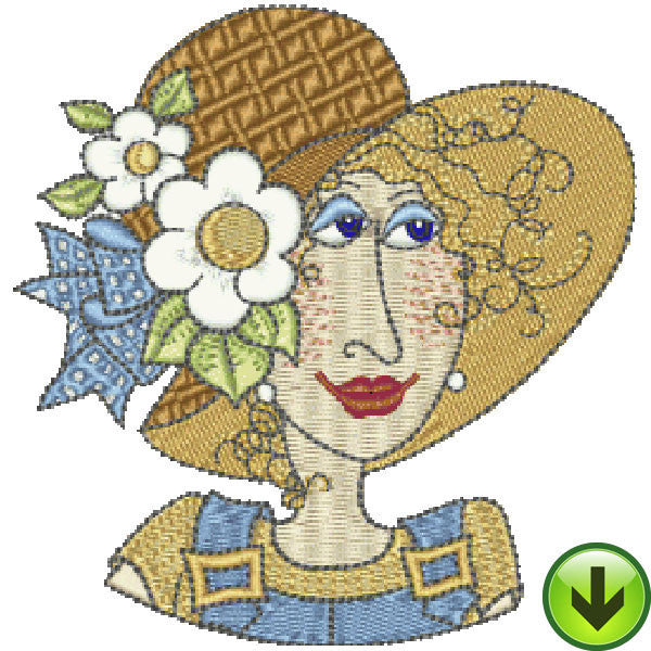 Fun Ladies Mugshots Embroidery Machine Design Collection