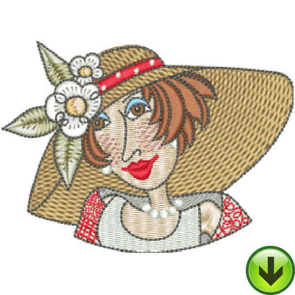 Dressed to Quilt Mugshot Embroidery Design | DOWNLOAD